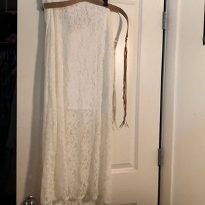 White skirt new with tags and belt